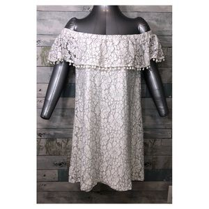 Lily Rose Dress Lace Off The Shoulder Size XL